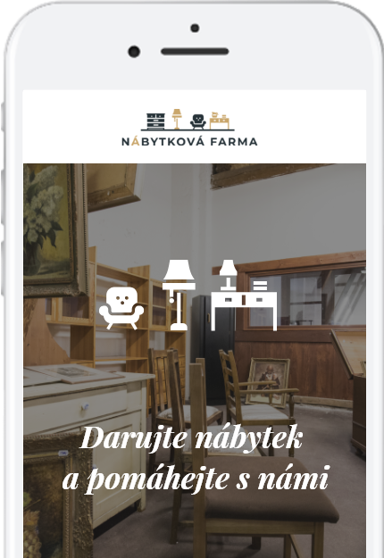 darujte nepotřebný nábytek a pomáhejte spolu s nábytkovou farmou dobročinný bazar obchod s nábytkem Kralupy nad Vltavou Praha